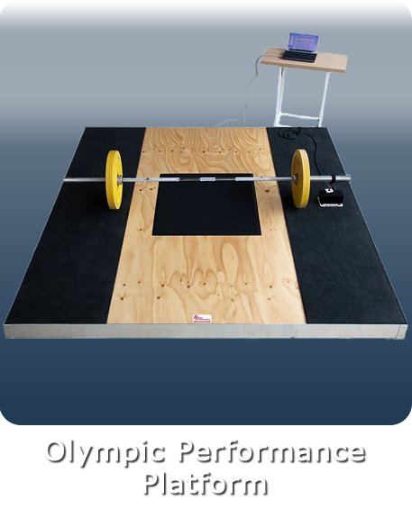 Olympic peformace platform with inbuilt force plate